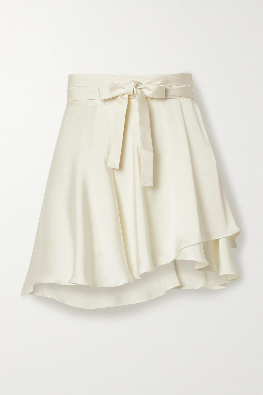 Orseund Iris Ballerina satin wrap mini skirt
