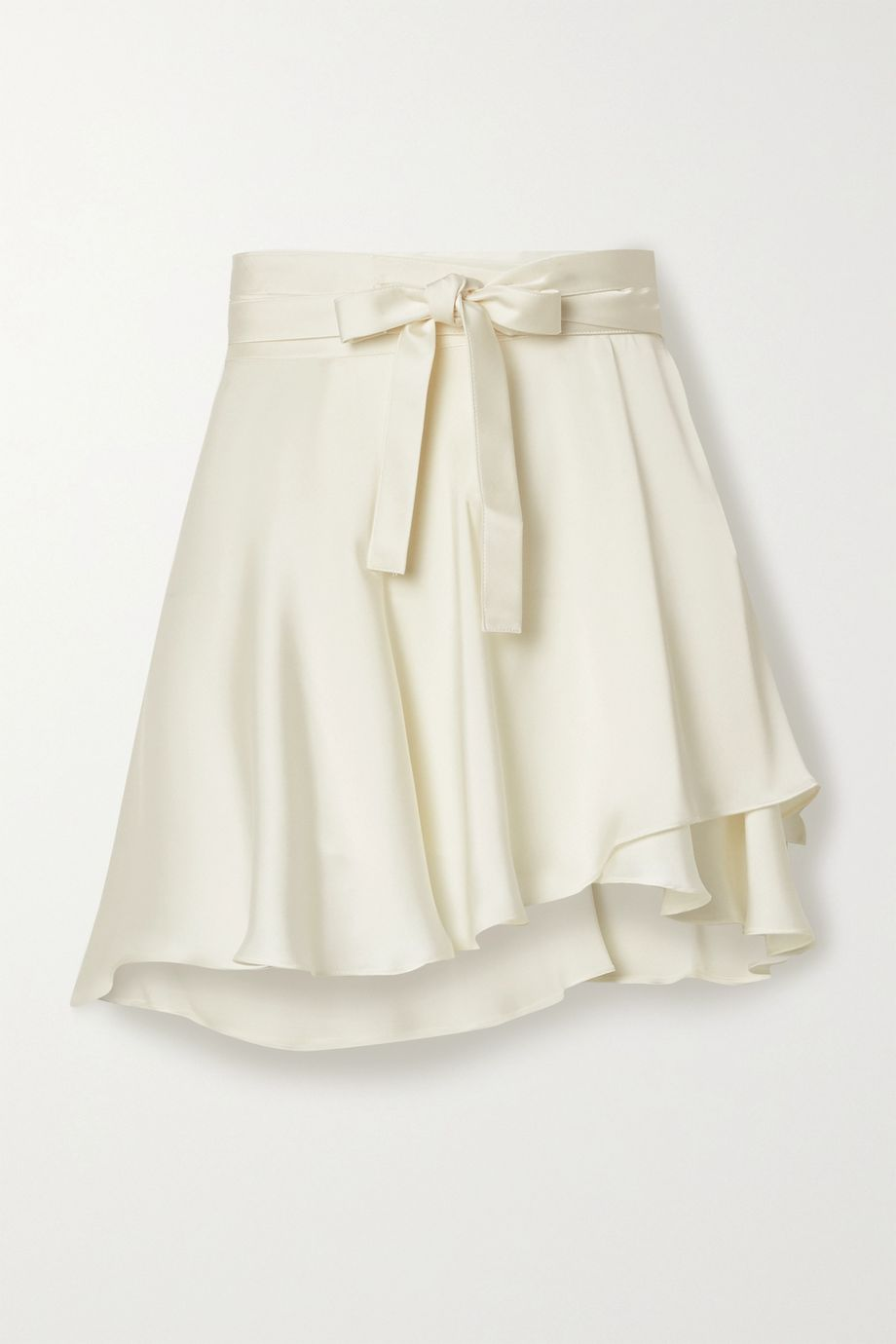 Orseund Iris Ballerina satin wrap mini skirt