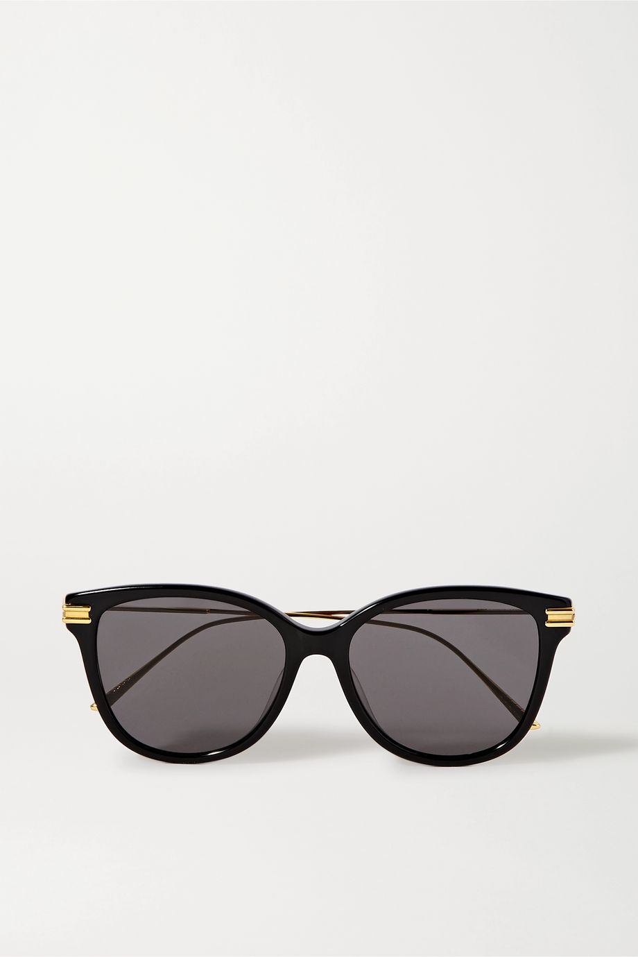 Bottega Veneta Sonnenbrille mit rundem Rahmen aus Azetat mit goldfarbenen Details
