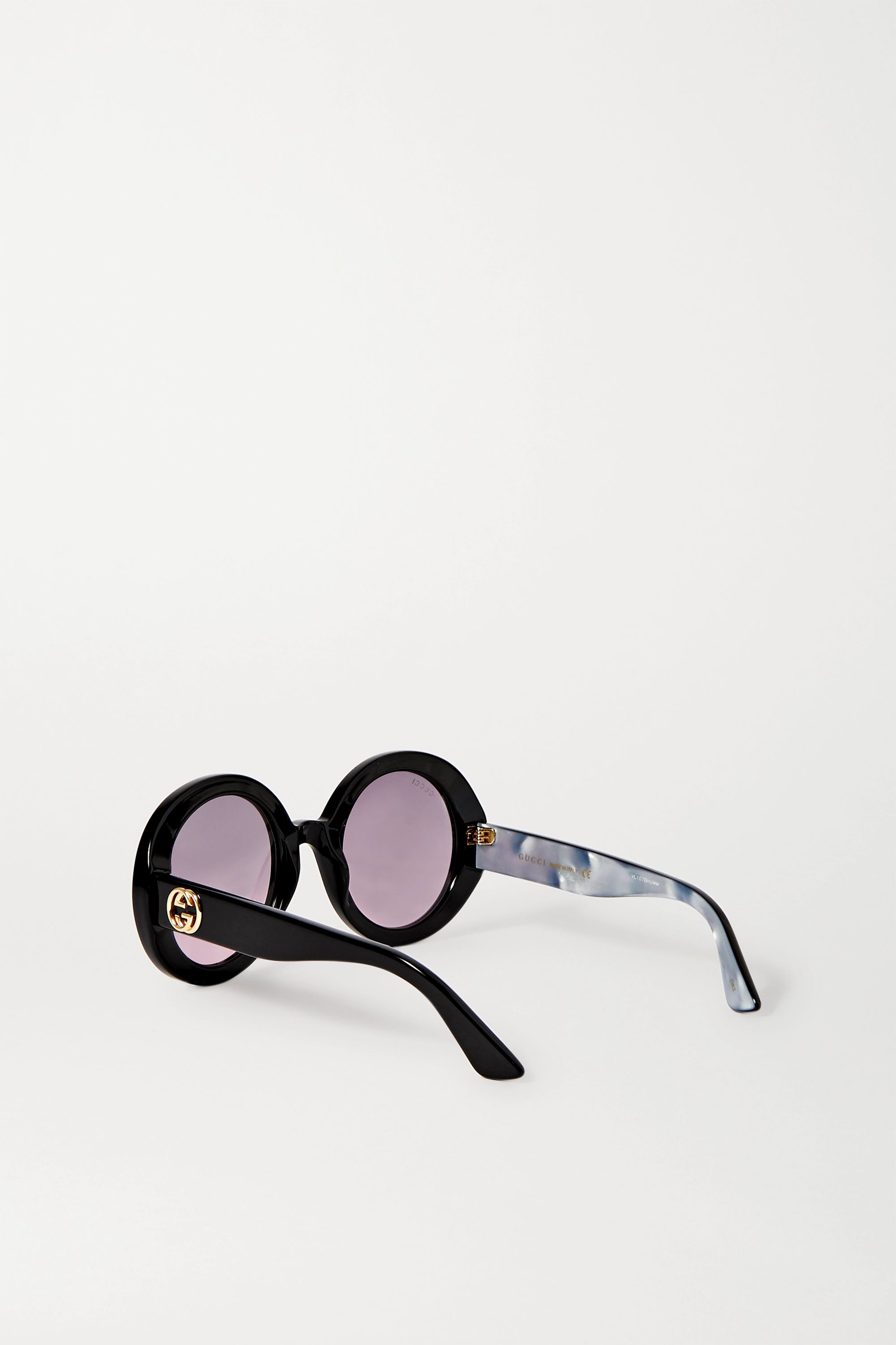 Gucci Oversized round-frame acetate sunglasses