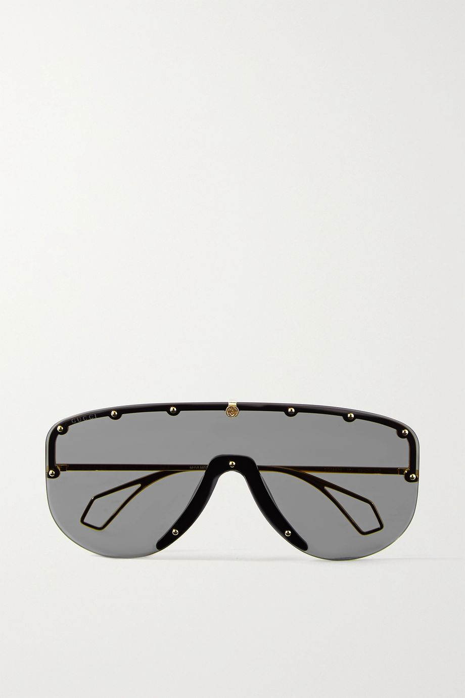 Gucci Oversized studded D-frame gold-tone sunglasses