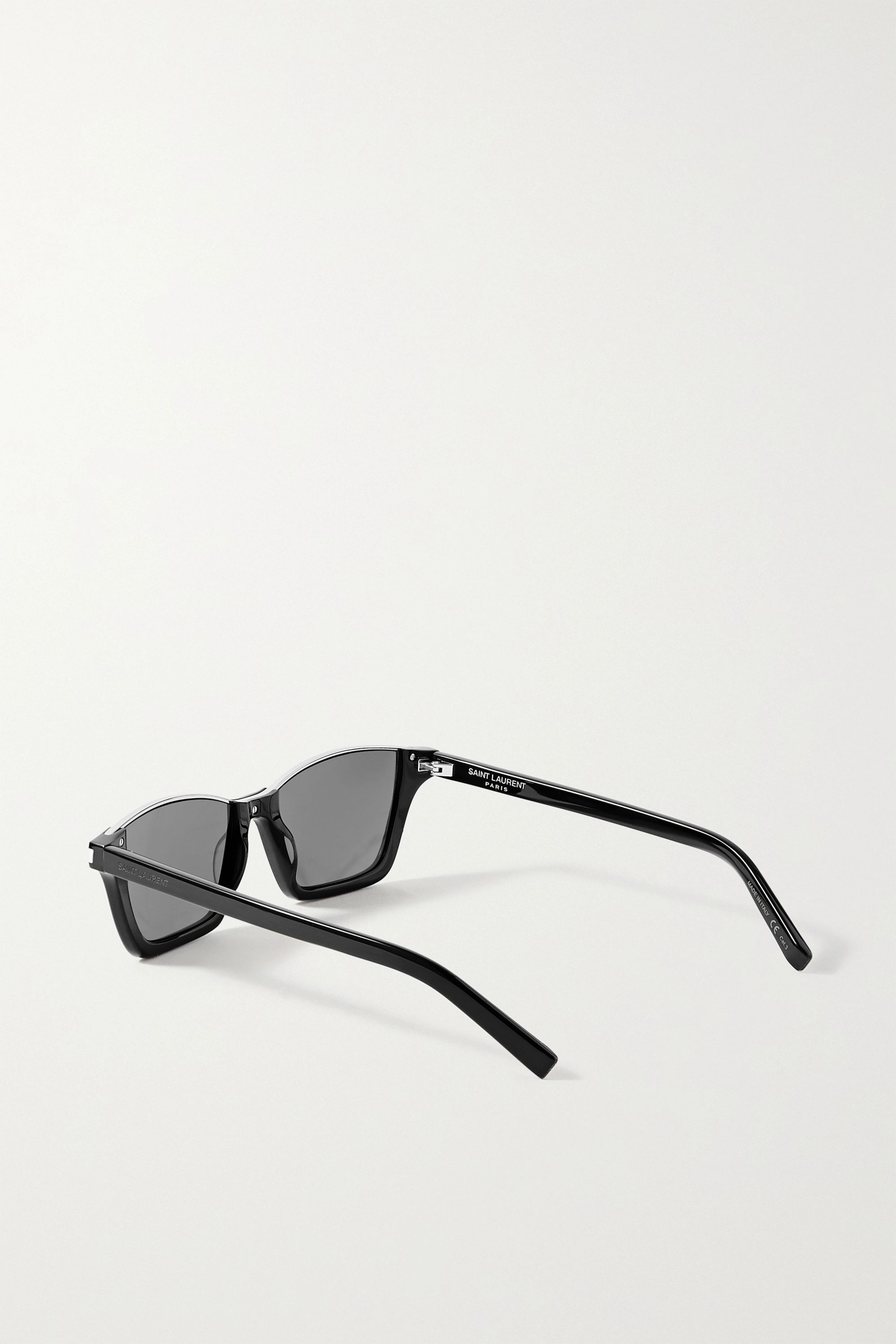 SAINT LAURENT Dylan cat-eye silver-tone and acetate sunglasses