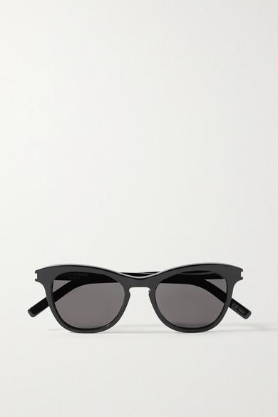 SAINT LAURENT - Round-frame Acetate Sunglasses - Black