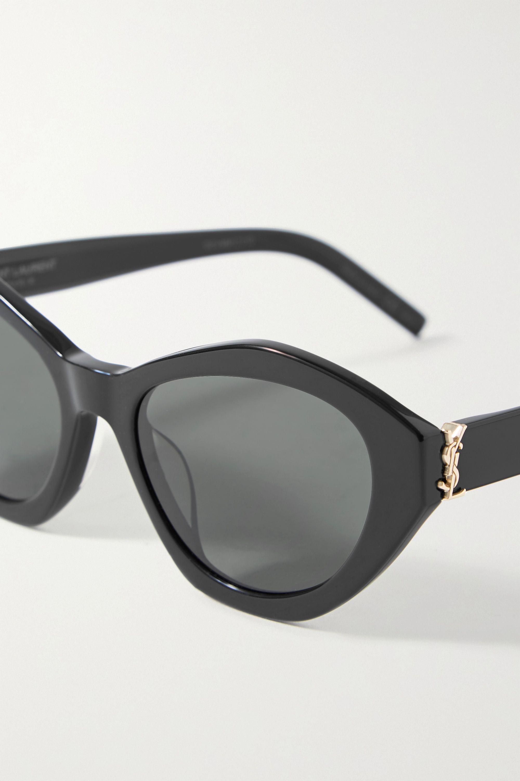 SAINT LAURENT Cat-eye acetate sunglasses