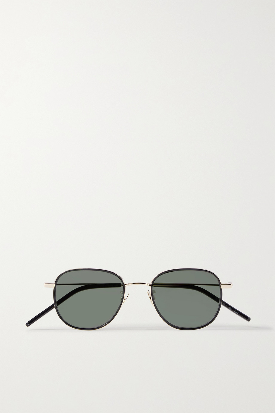 SAINT LAURENT Windsor round-frame gold-tone sunglasses