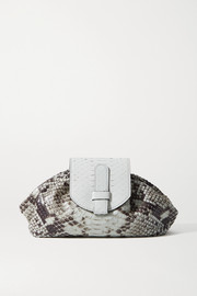 Ximena Kavalekas Serena small snake-effect leather clutch