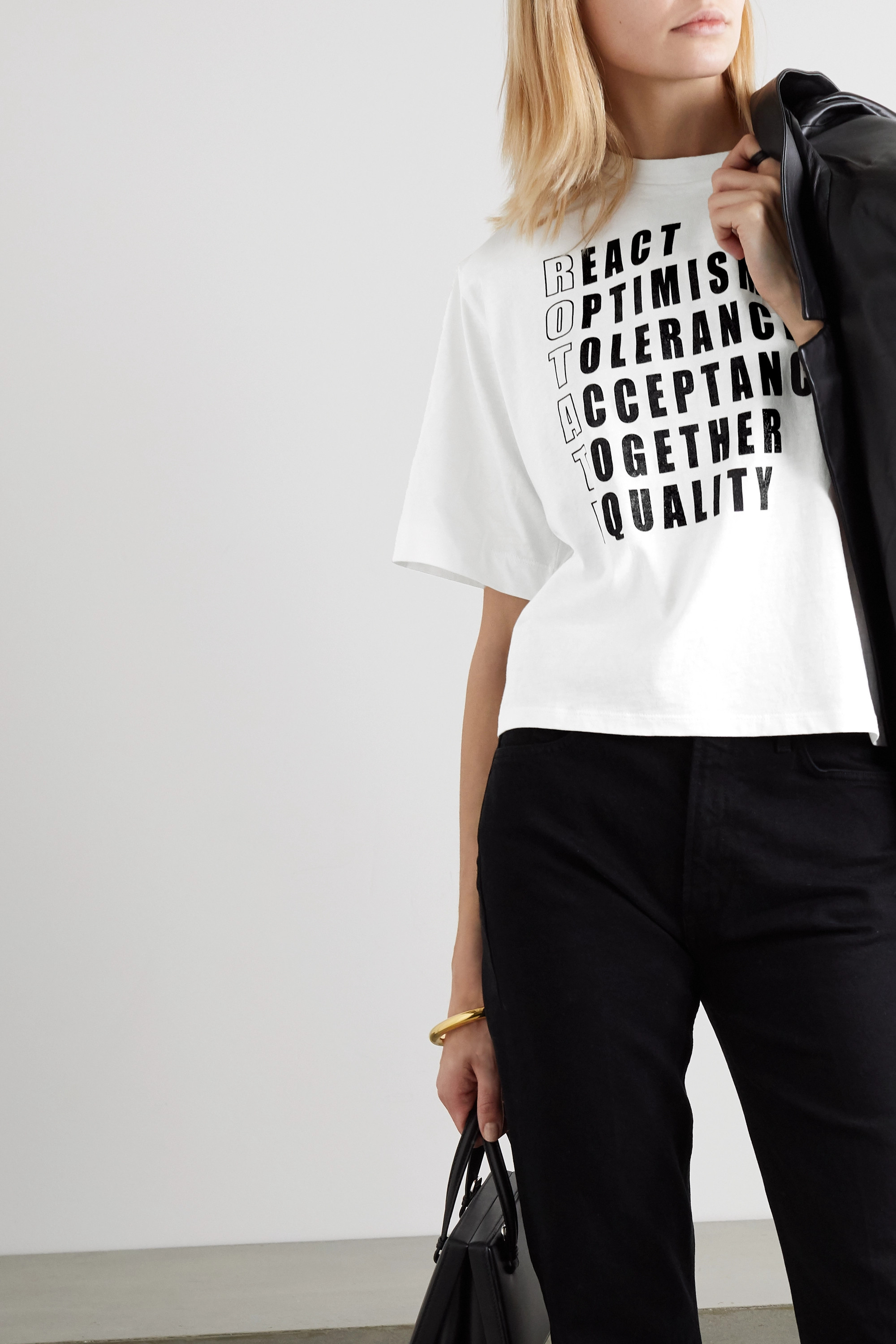 ROTATE Birger Christensen International Women's Day Optimism printed cotton-jersey T-shirt