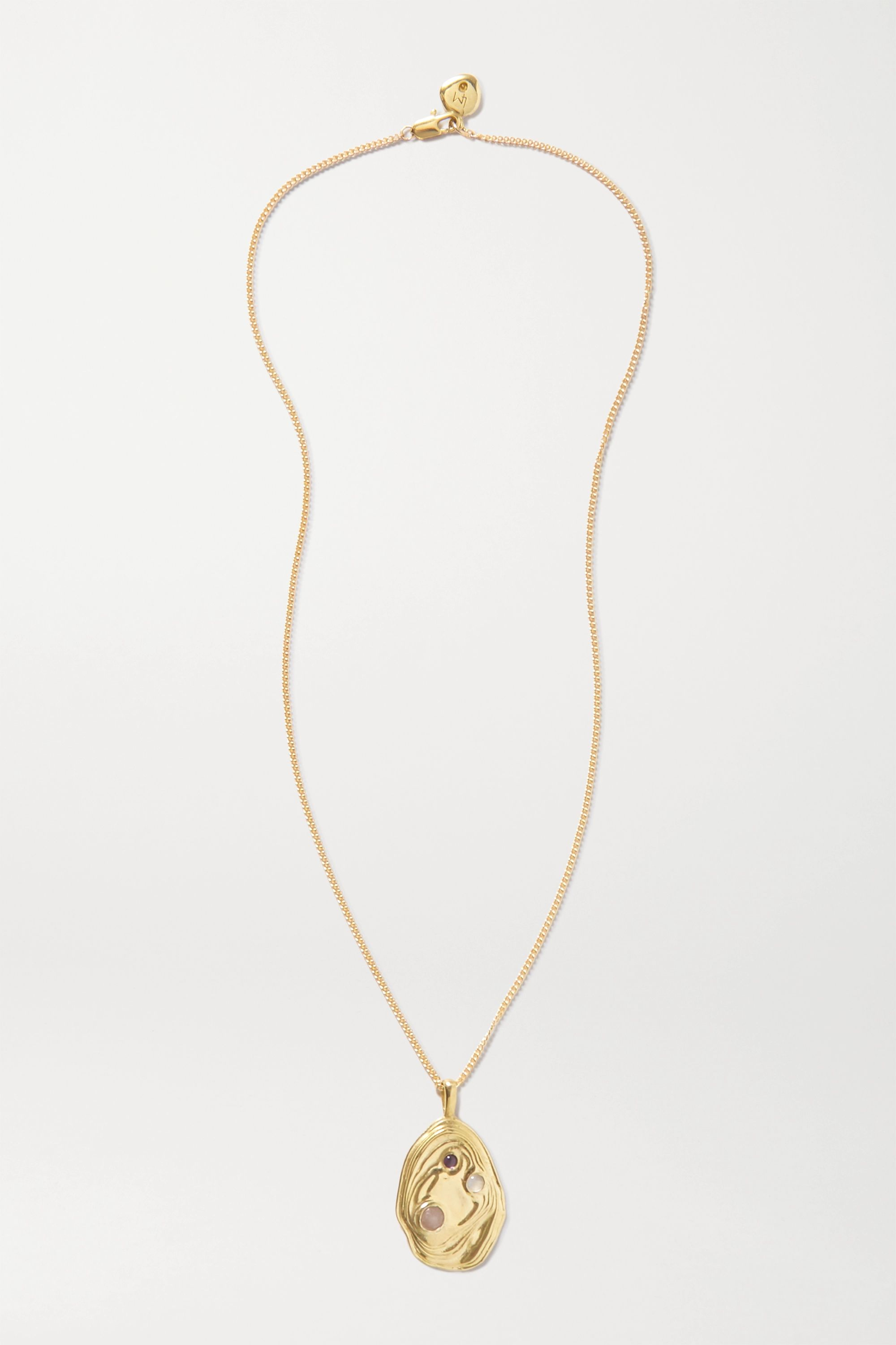 Leigh Miller + NET SUSTAIN Lava gold-tone multi-stone necklace