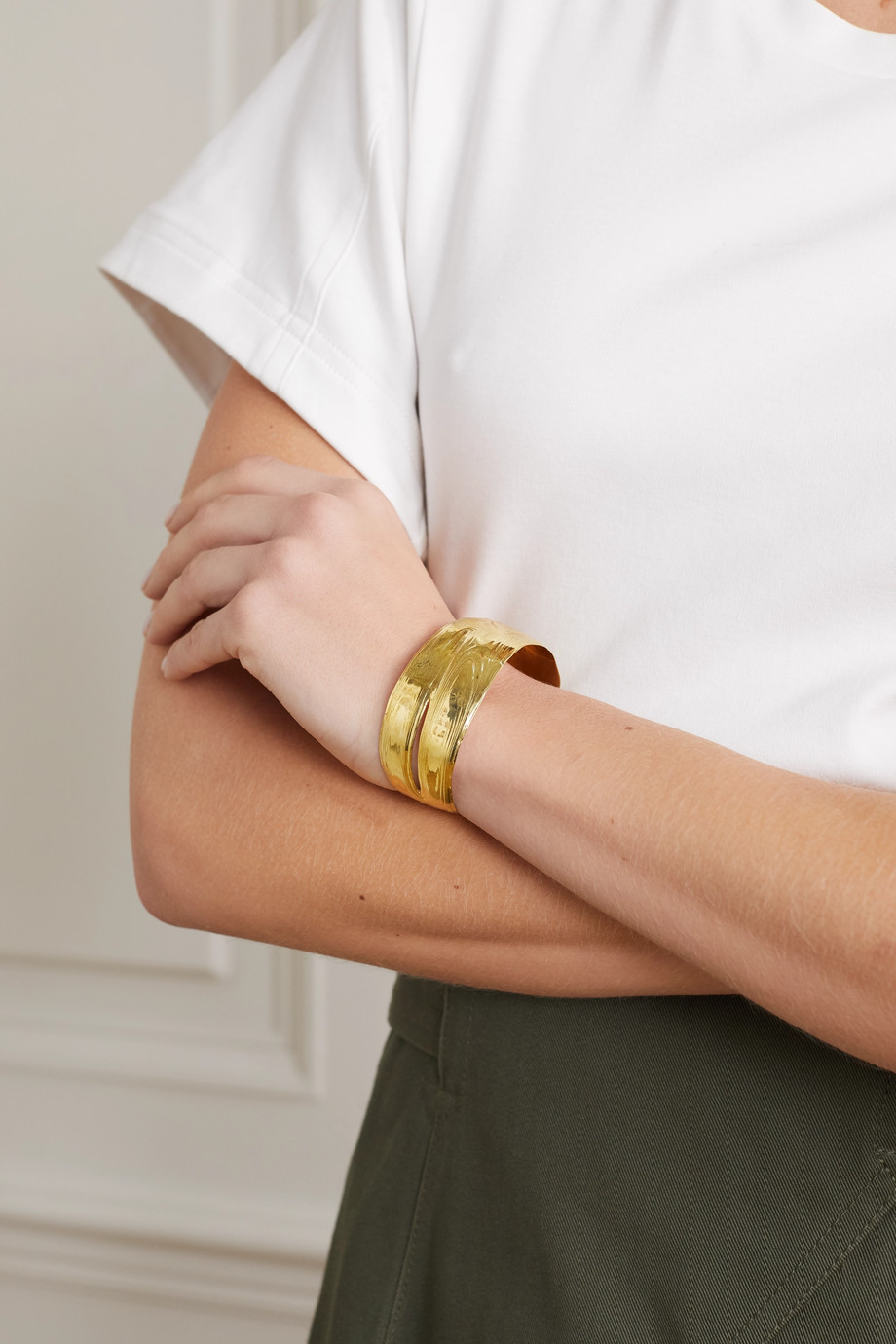 Leigh Miller + Space for Giants gold-tone cuff