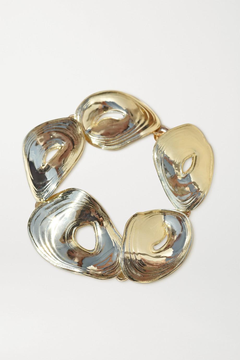 Leigh Miller + NET SUSTAIN Cascade gold-tone bracelet