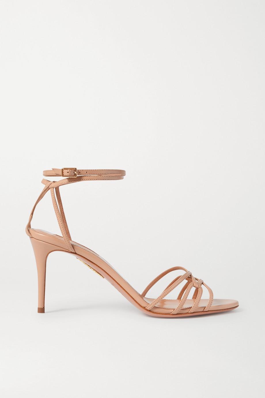 Aquazzura Very First Kiss 75 leather sandals