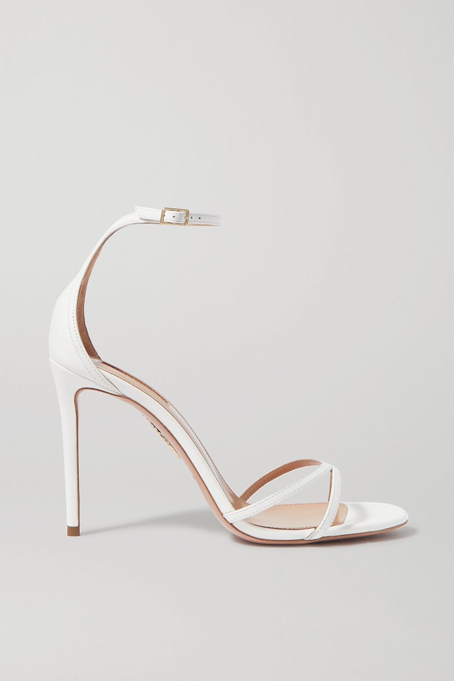 Aquazzura Purist 105 leather sandals