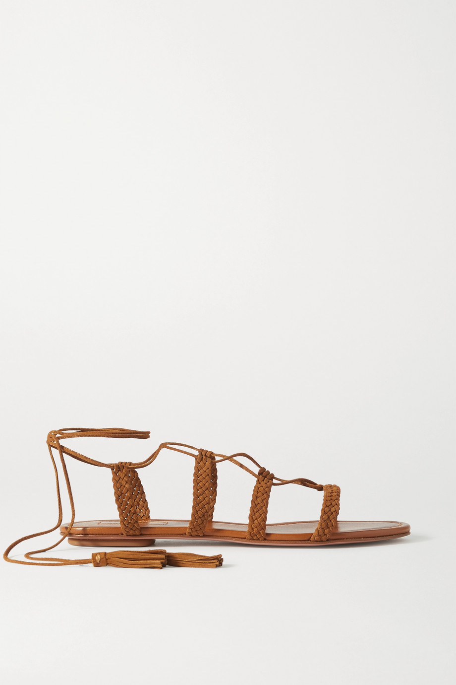 Aquazzura Stromboli braided suede sandals