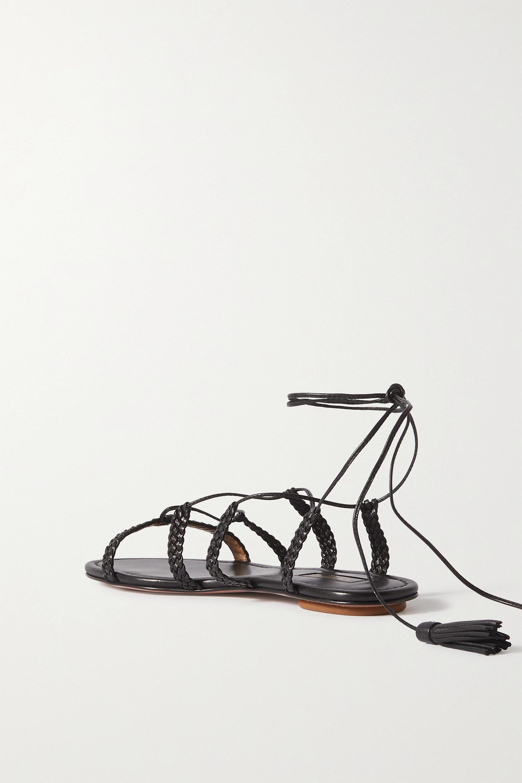 Aquazzura Sandales en cuir tressé Stromboli