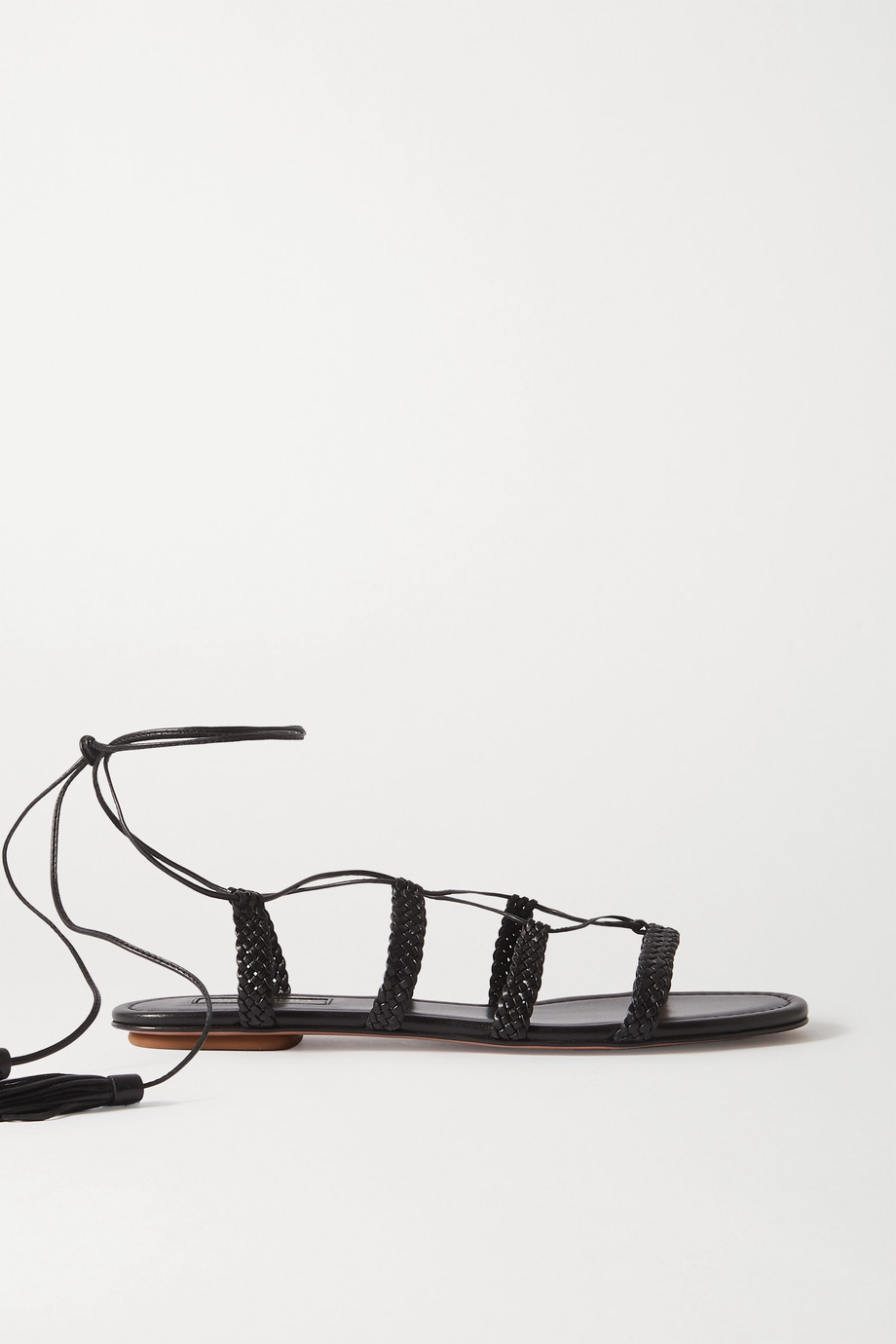 Aquazzura Stromboli braided leather sandals