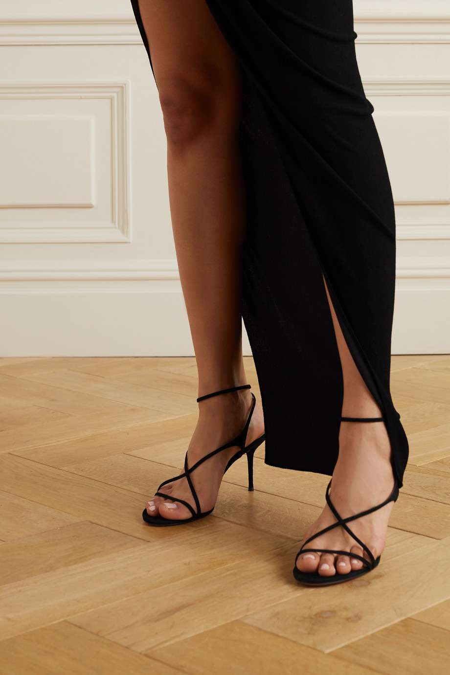 Aquazzura Candie 75 suede sandals