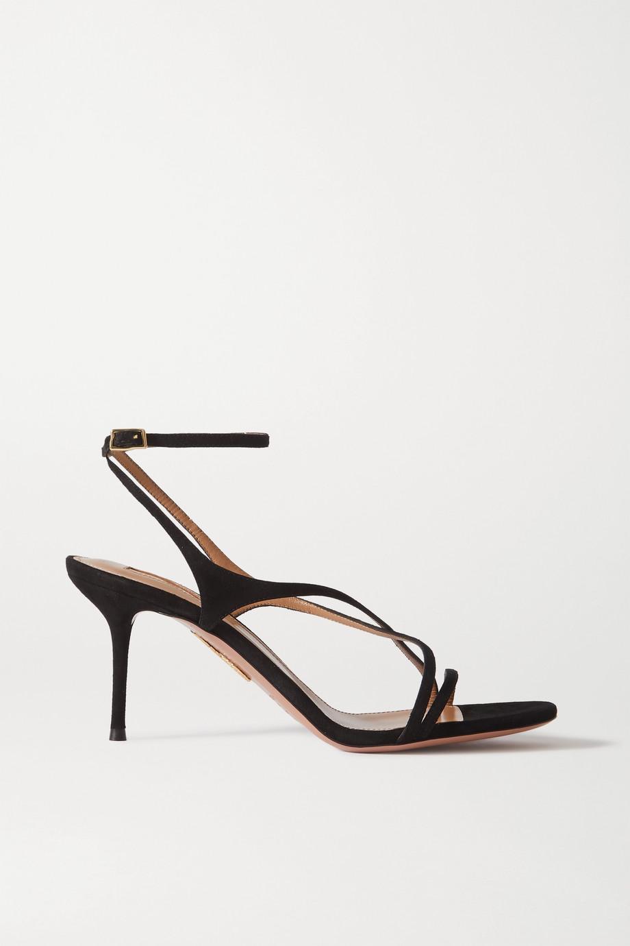 Aquazzura Candie 75 绒面革凉鞋