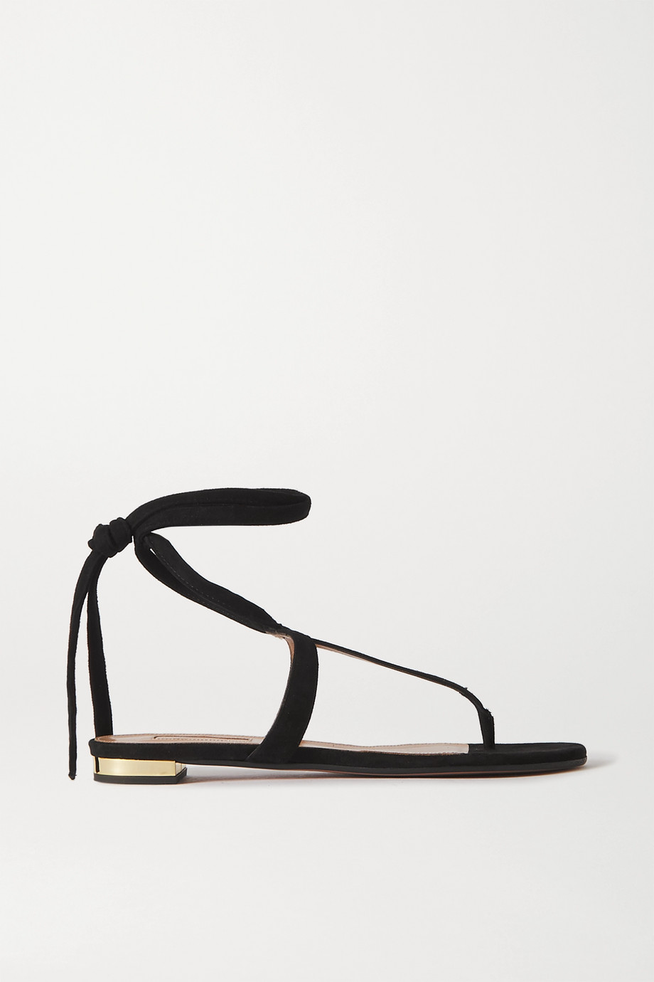 Aquazzura June Sandalen aus Veloursleder