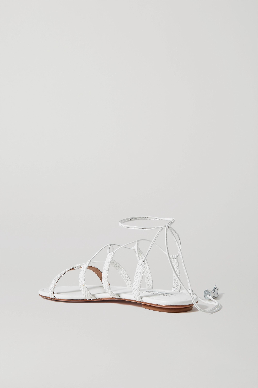 Aquazzura Stromboli braided leather sandals
