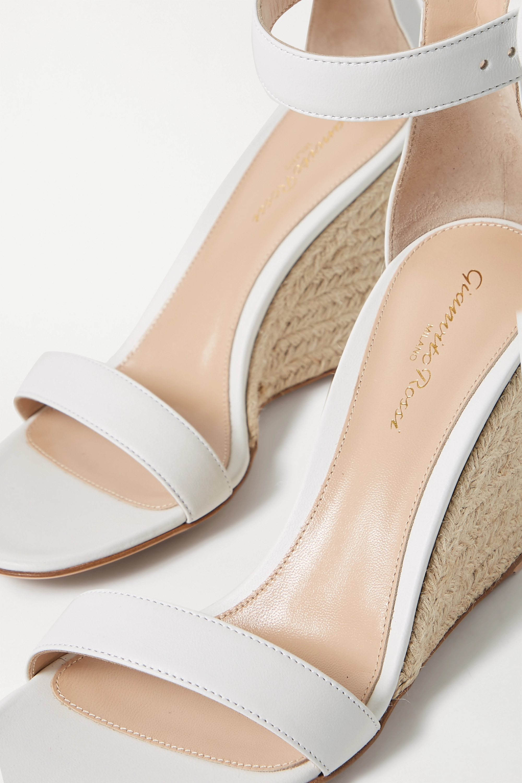 Gianvito Rossi Portofino 85 leather espadrille wedge sandals