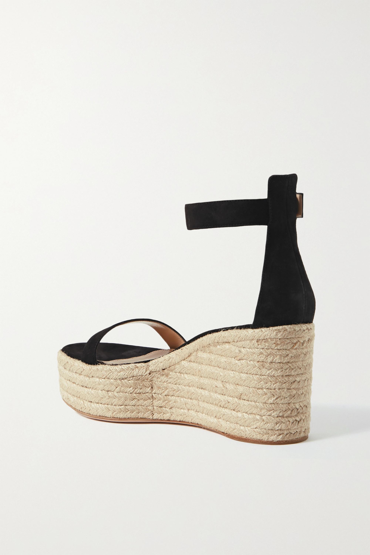 Gianvito Rossi Portofino 85 suede espadrille platform sandals