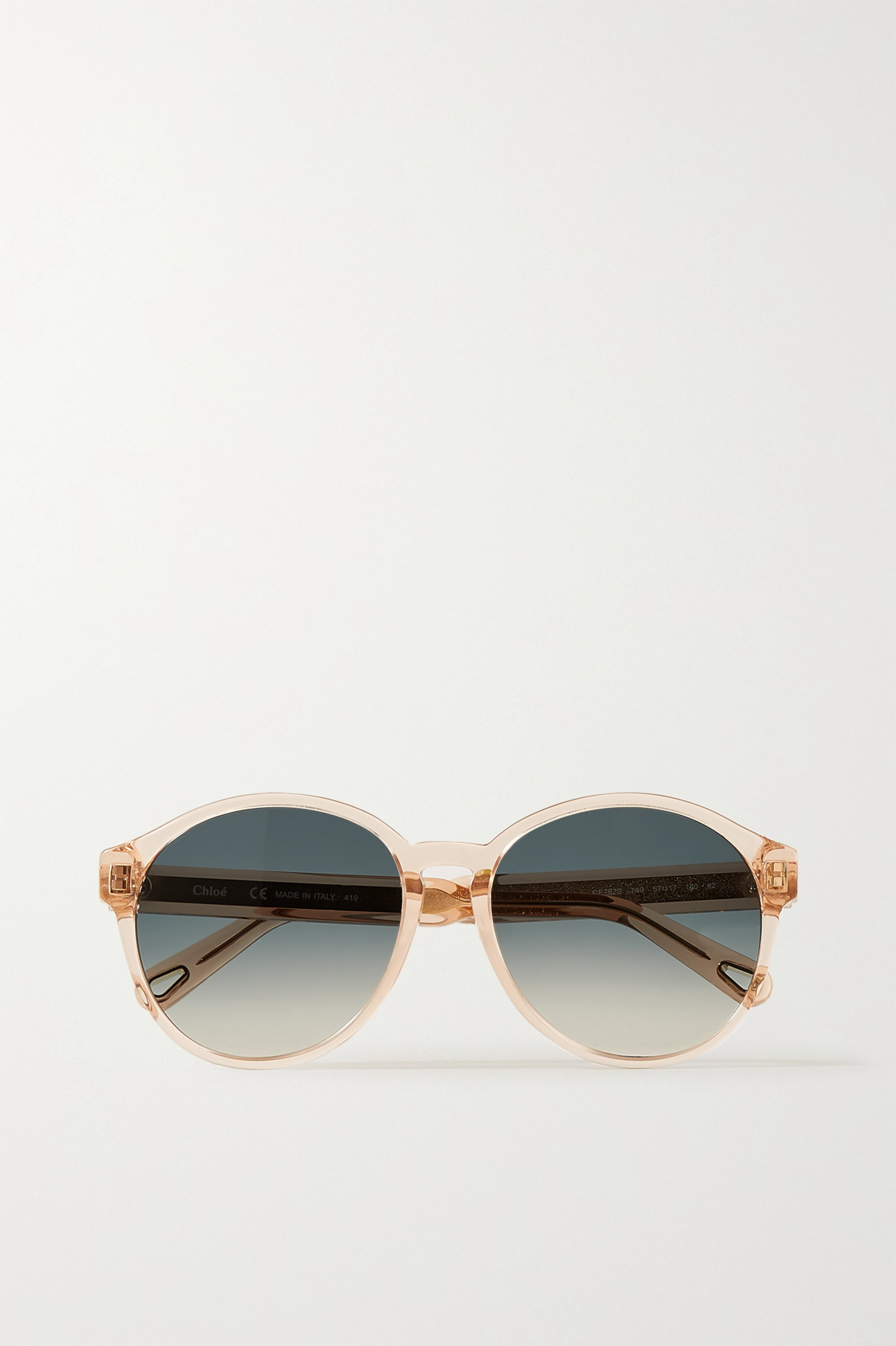 Chloé Willow round-frame acetate and gold-tone sunglasses