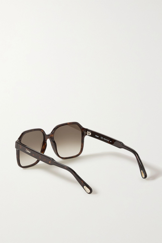 Chloé Willow square-frame tortoiseshell acetate sunglasses