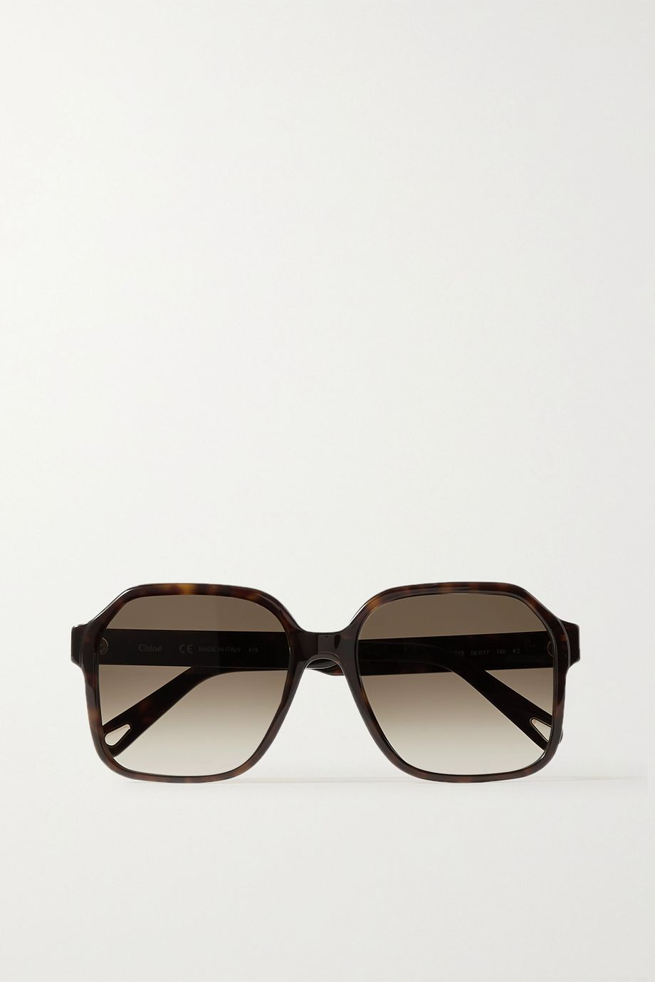 Chloé Willow square-frame tortoiseshell acetate sunglasses