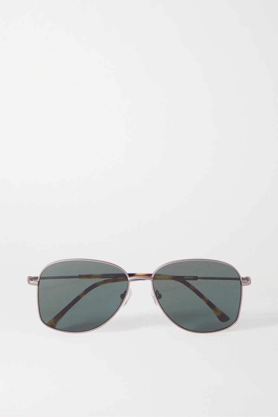 Dries Van Noten Aviator-style silver-tone and tortoiseshell acetate sunglasses