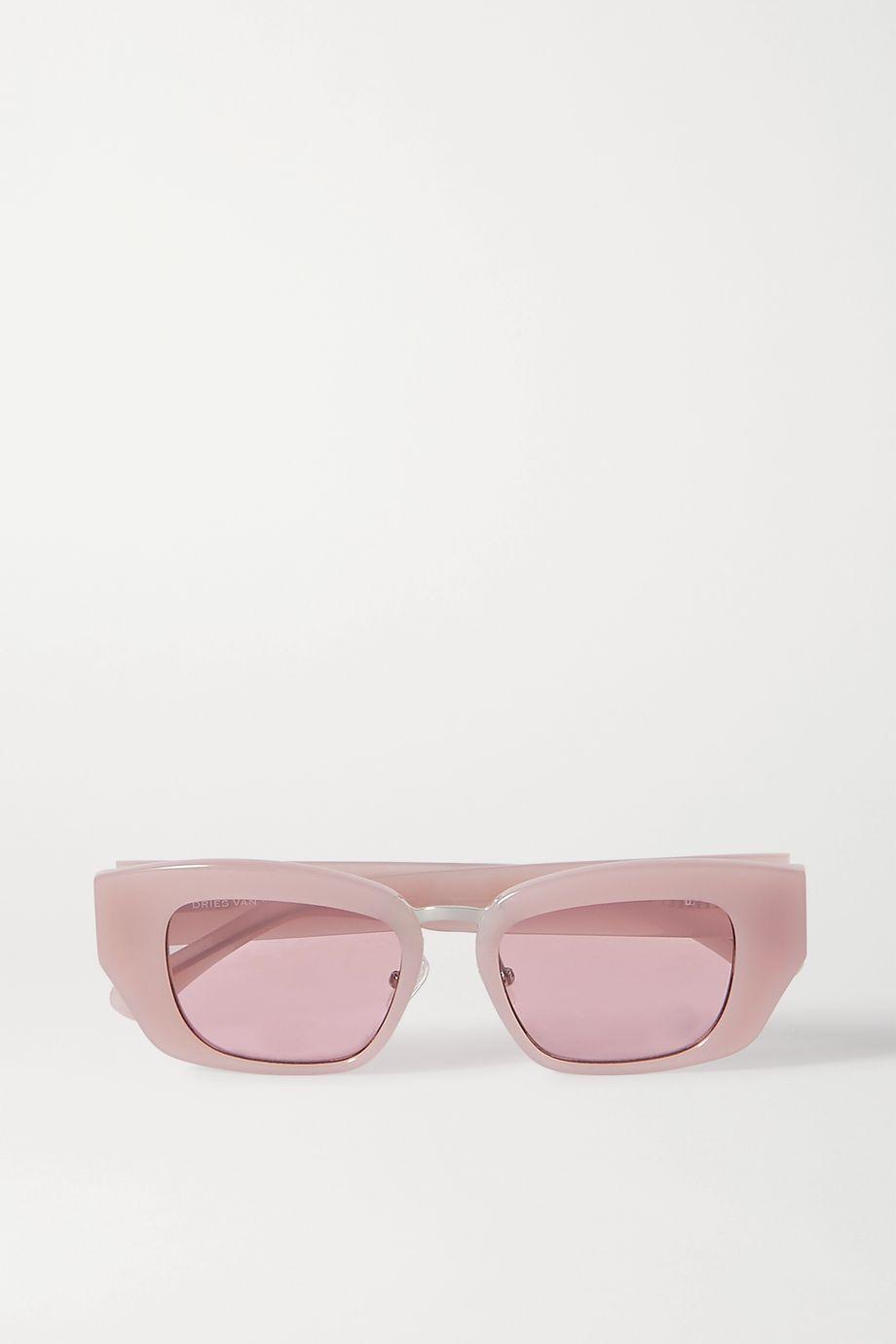 Dries Van Noten Sonnenbrille mit eckigem Rahmen aus Azetat