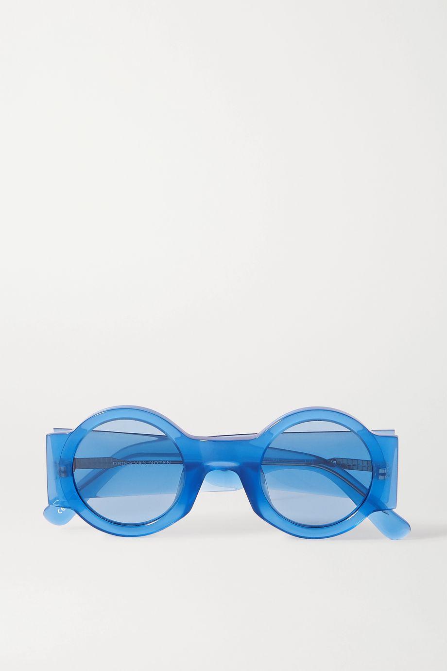 Dries Van Noten Sonnenbrille mit rundem Rahmen aus Azetat