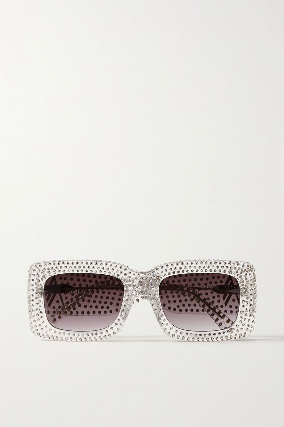 The Attico + Linda Farrow Stella square-frame crystal-embellished acetate sunglasses