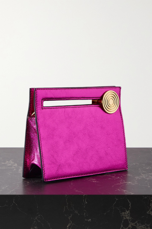 Bienen-Davis Max metallic leather clutch