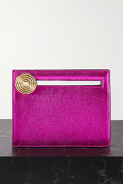 Bienen-Davis Max metallic leather clutch