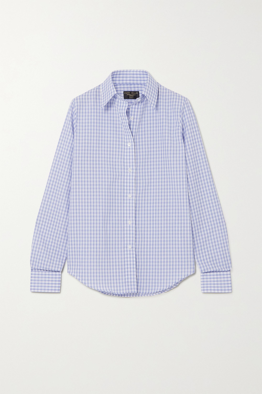Emma Willis Gingham cotton and linen-blend shirt