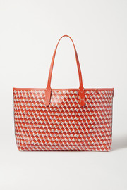 Anya Hindmarch + NET SUSTAIN I Am A Plastic Bag small leather-trimmed printed coated-canvas tote