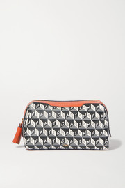 Girlie Stuff leather-trimmed printed coated-canvas cosmetics case