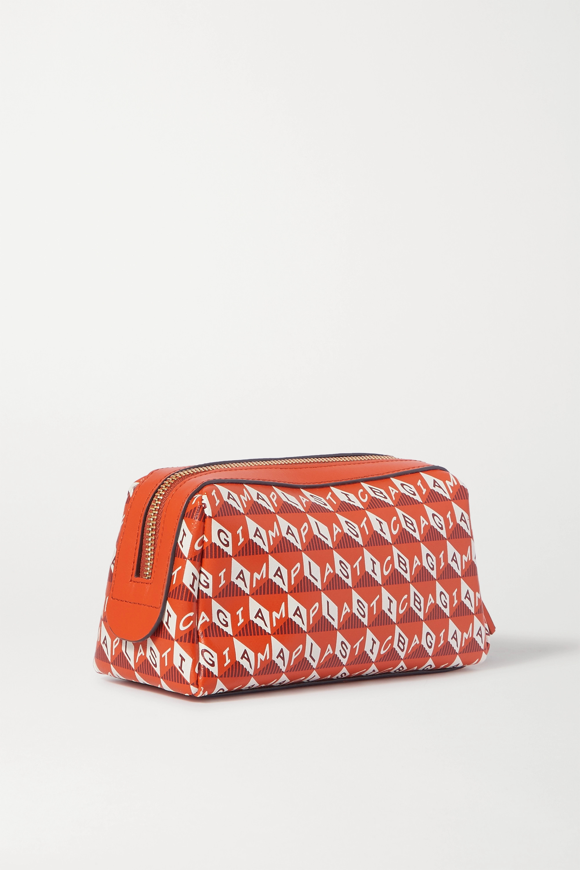 Anya Hindmarch Girlie Stuff leather-trimmed printed coated-canvas cosmetics case