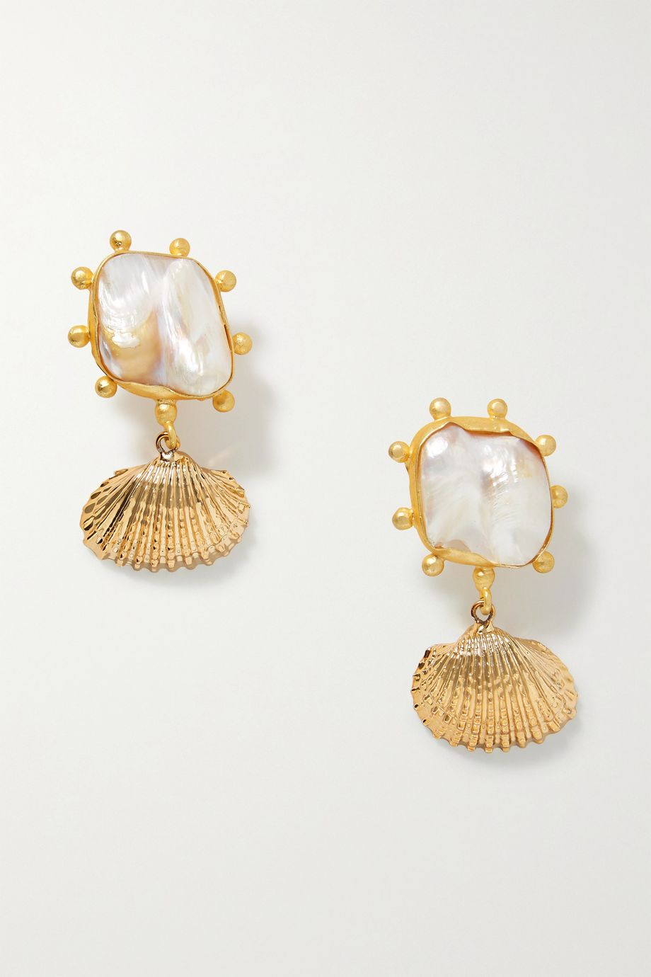 Peet Dullaert Ikata gold-plated pearl earrings