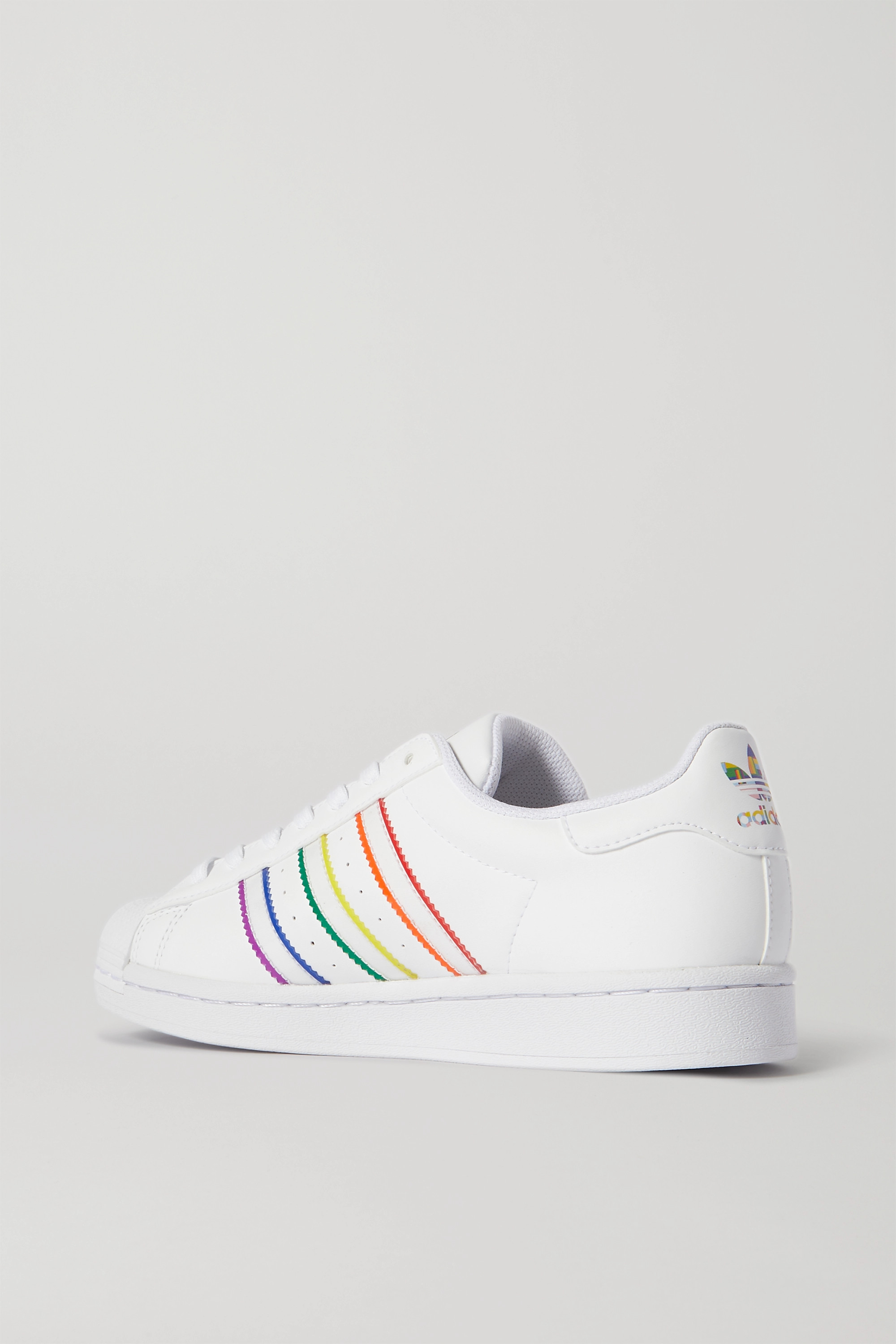 White Superstar Pride leather sneakers