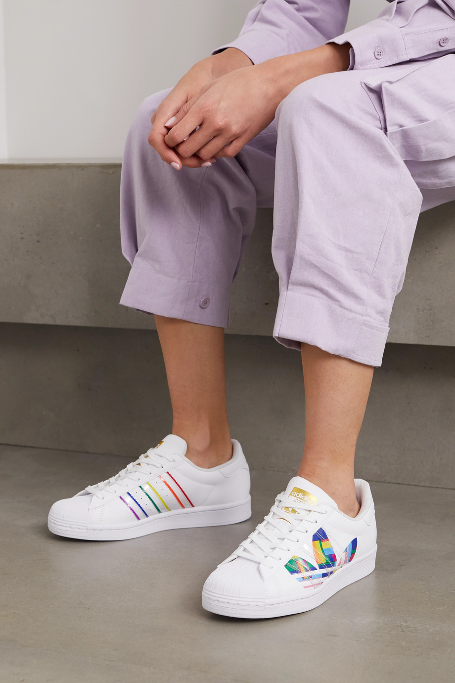adidas Originals Superstar Pride leather sneakers