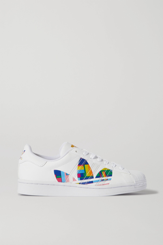 adidas Originals Superstar Pride leather sneakers