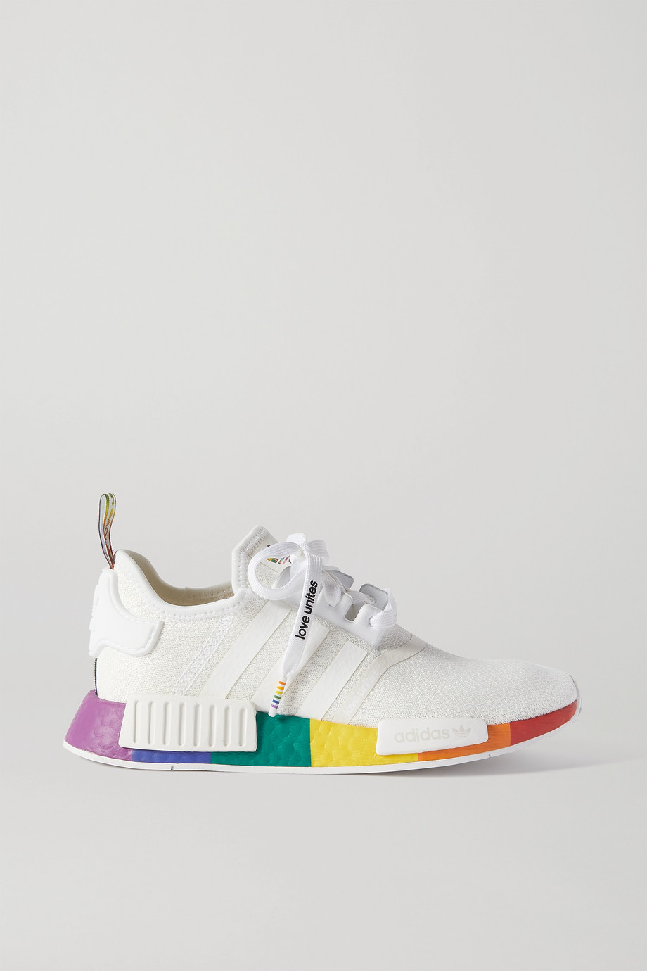 adidas Originals NMD_R1 Pride rubber-trimmed Primeknit sneakers