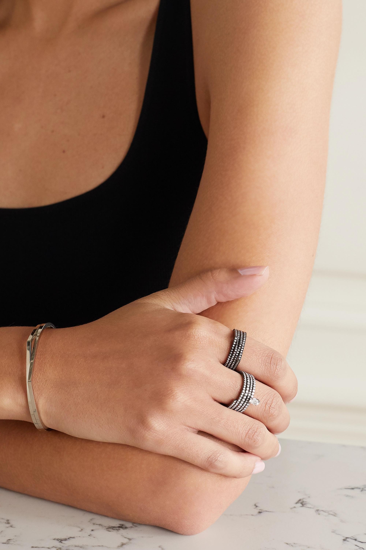 Repossi Antifer 18-karat black gold-washed diamond ring