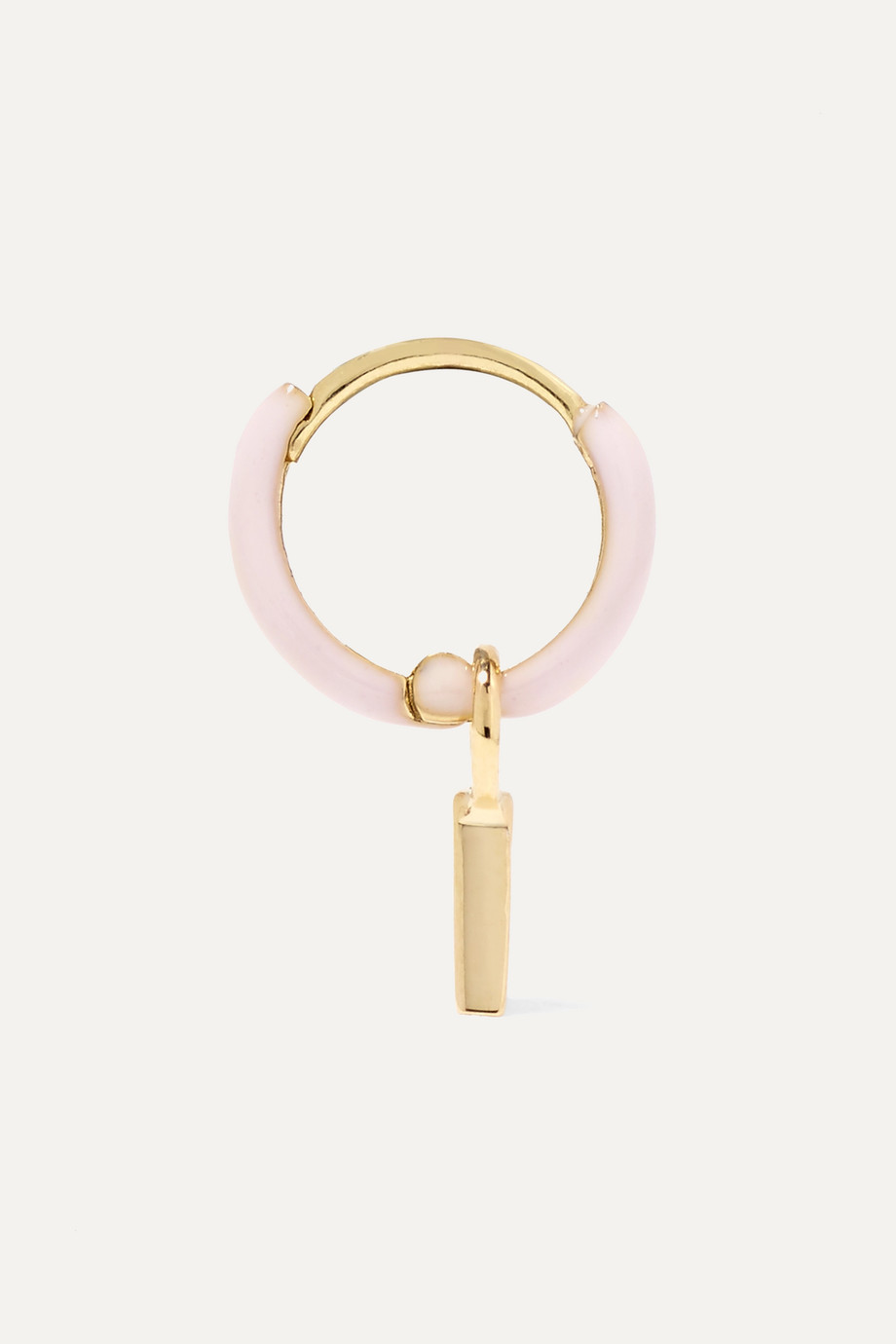 Alison Lou Huggy 14-karat gold enamel hoop earring