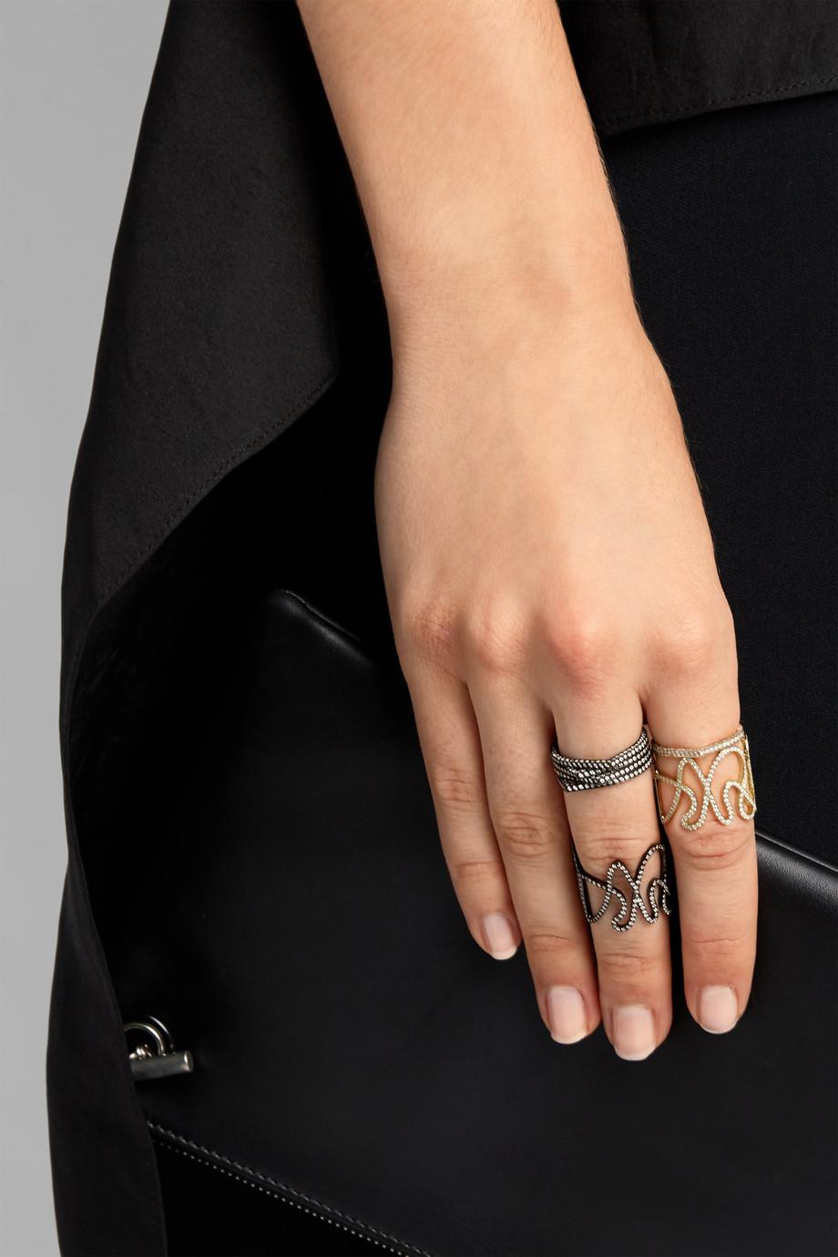 Repossi White Noise 18-karat gold diamond ring