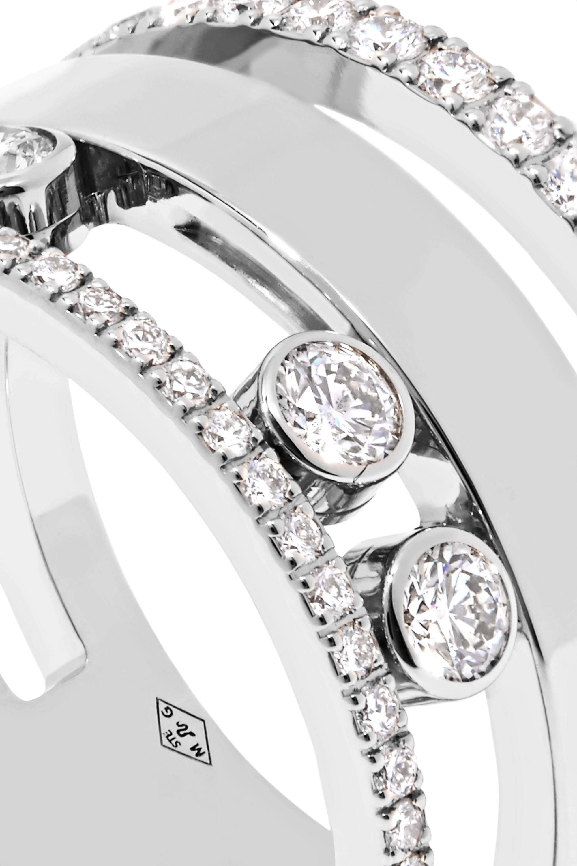 Messika Move Romane Large 18-karat white gold diamond ring