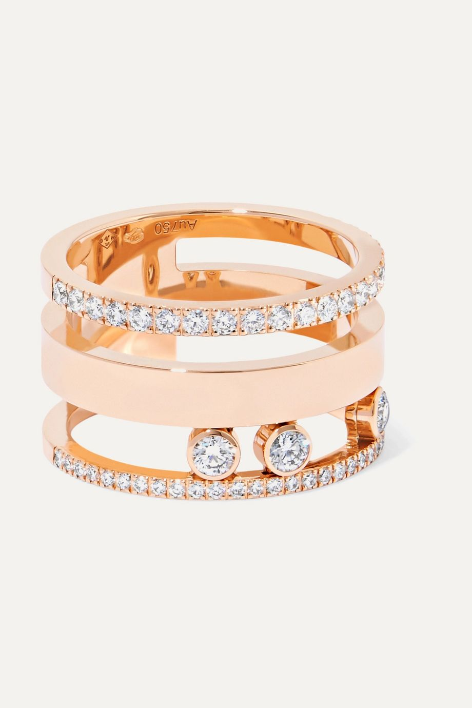 Messika Move Romane Large Ring aus 18 Karat Roségold mit Diamanten