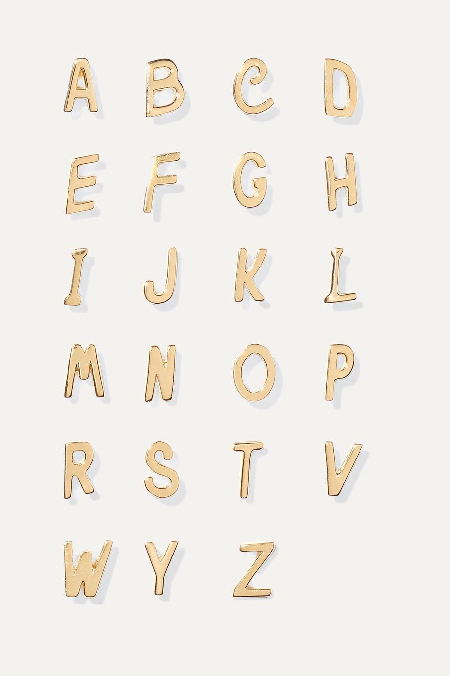 Alison Lou Letter 14-karat gold earring