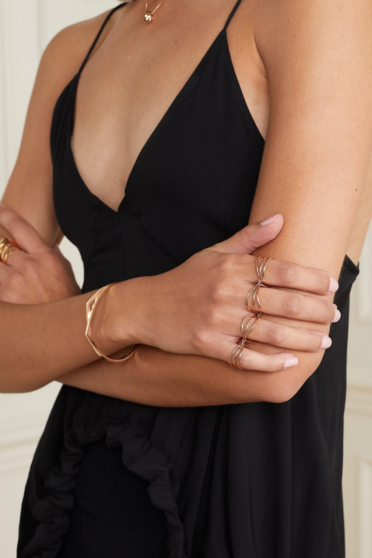 Repossi 18-karat rose gold four-finger ring